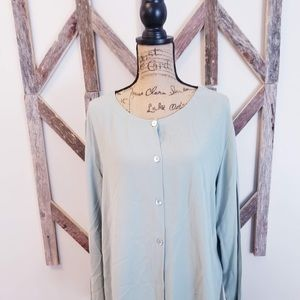 Eileen Fisher 100% Silk Blouse